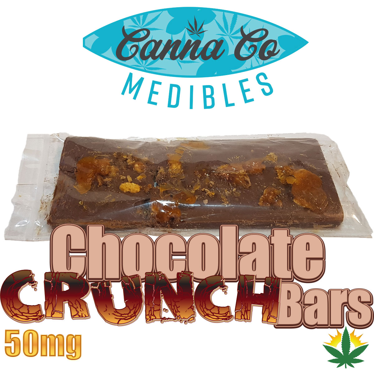 CannaCo THC Chocolate Crunch Bars by BC Bud Store - Image © 2018 BC Bud Store. All Rights Reserved.