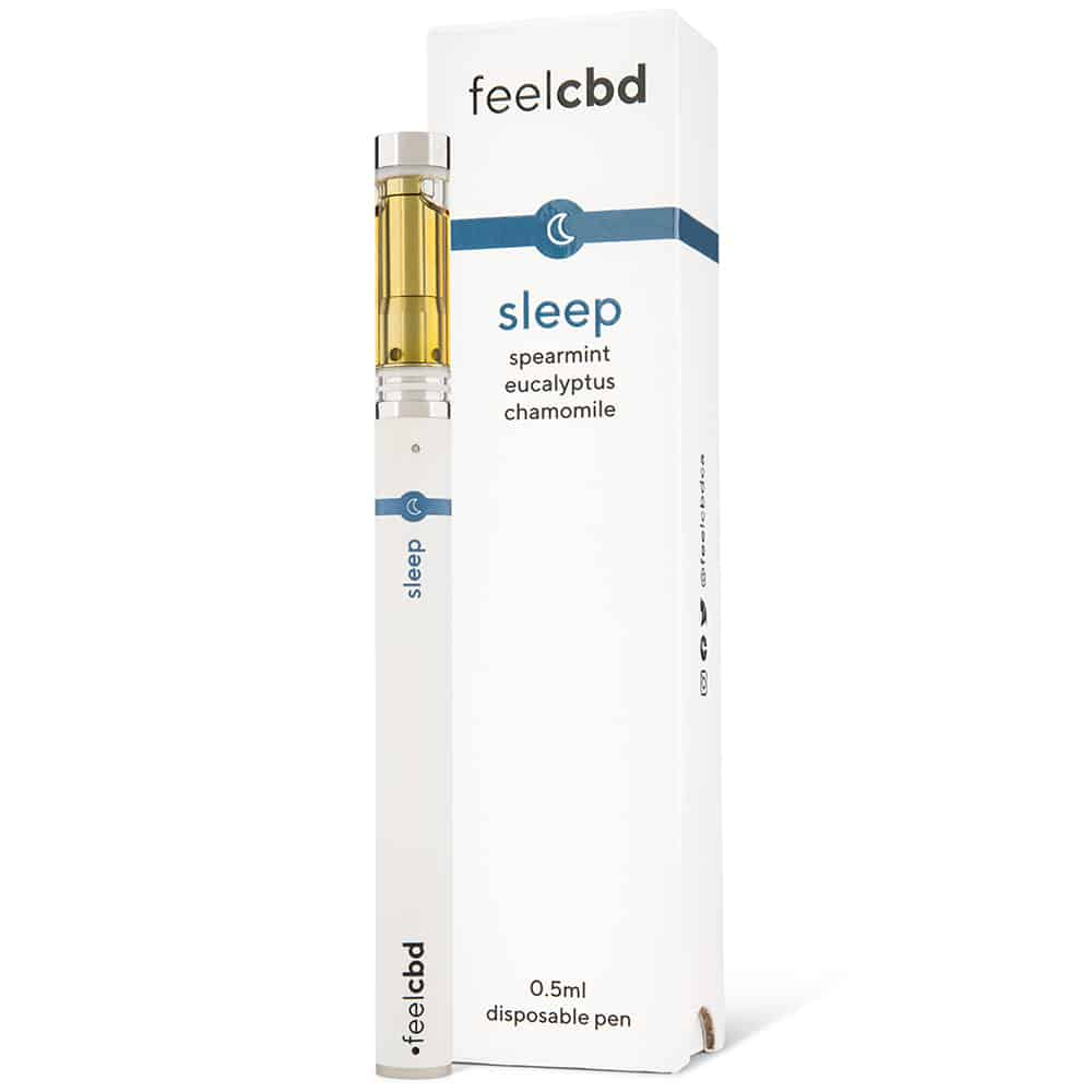 feelCBD Disposable Pen + Charger Sleep by Birch + Fog - Image © 2018 Birch + Fog. All Rights Reserved.