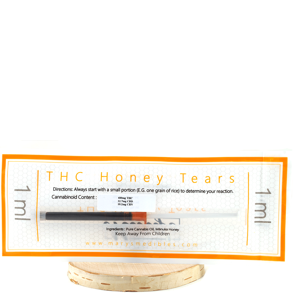 Marys Medibles THC Honey Tears (600mg THC / 12.7mg CBD) by Birch + Fog - Image © 2018 Birch + Fog. All Rights Reserved.