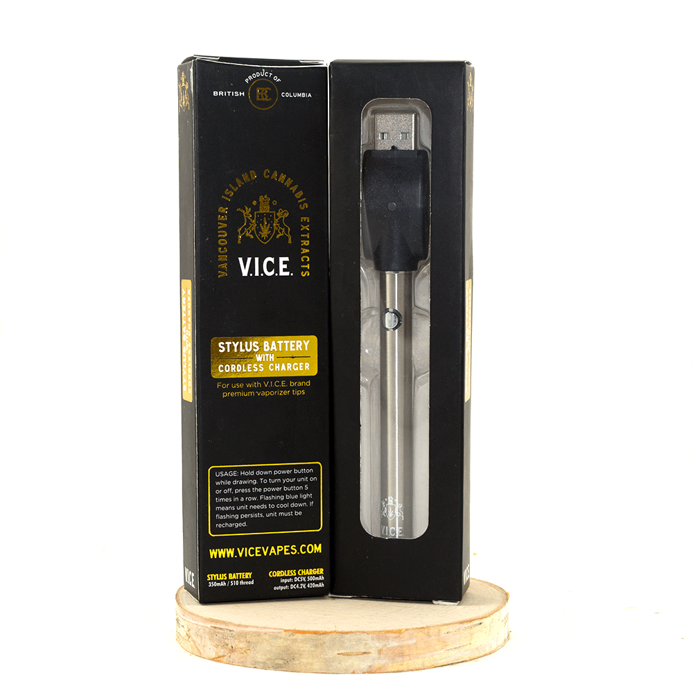 Vancouver Island Cannabis Extracts Battery and Cordless Charger by Birch + Fog - Image © 2018 Birch + Fog. All Rights Reserved.