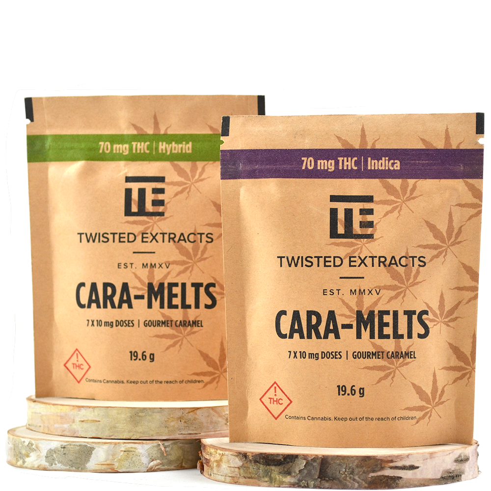 Twisted Extracts THC Cara-Melts (70mg THC) by Birch + Fog - Image © 2018 Birch + Fog. All Rights Reserved.