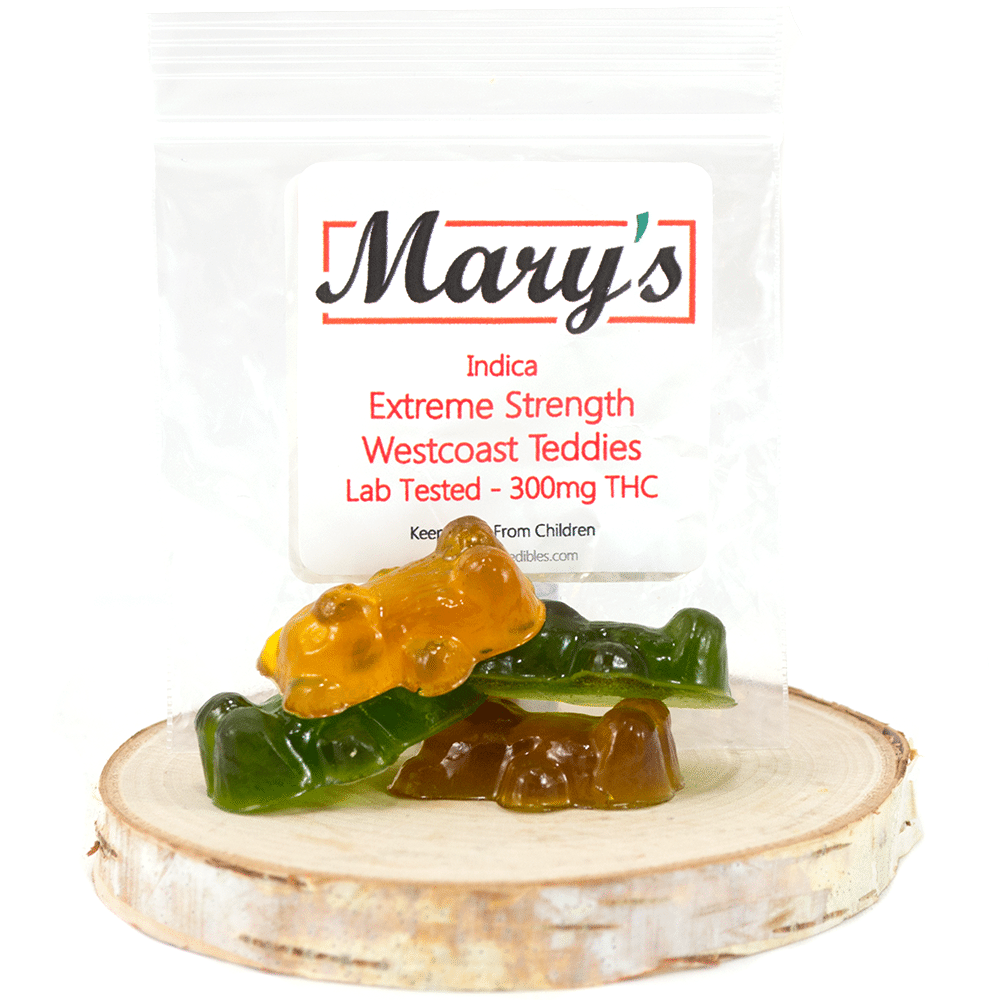 Marys Medibles Extreme Strength Westcoast Teddies (300mg THC) by Birch + Fog - Image © 2018 Birch + Fog. All Rights Reserved.