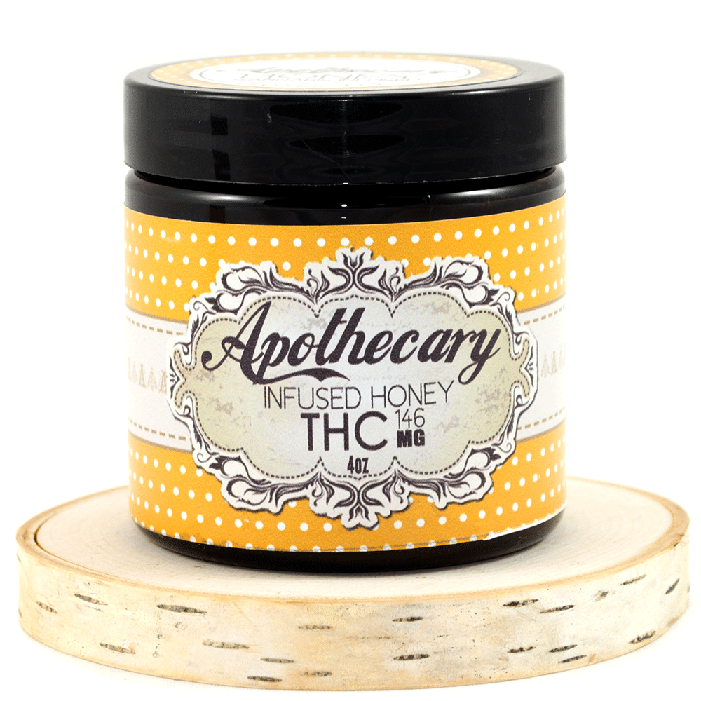 Apothecary Infused Honey – 4oz (146mg THC) by Birch + Fog - Image © 2018 Birch + Fog. All Rights Reserved.