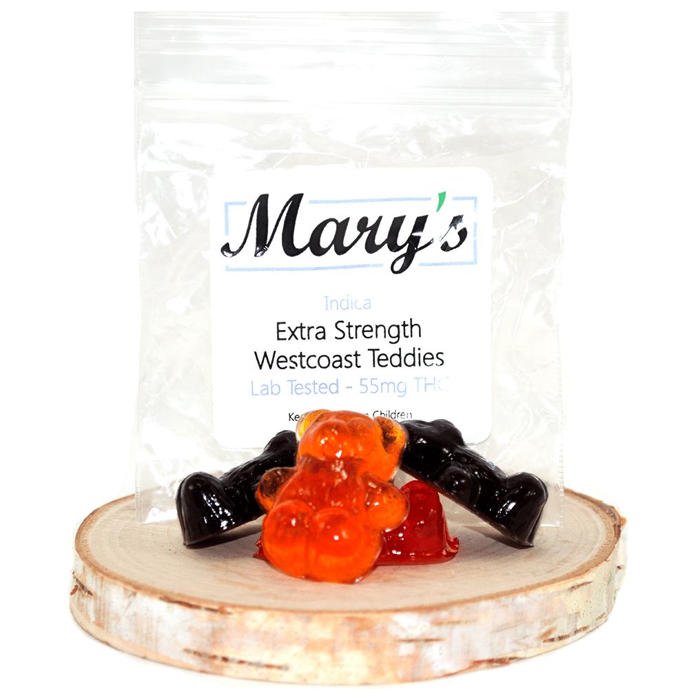 Marys Medibles Extra Strength Westcoast Teddies (55mg THC) by Birch + Fog - Image © 2018 Birch + Fog. All Rights Reserved.