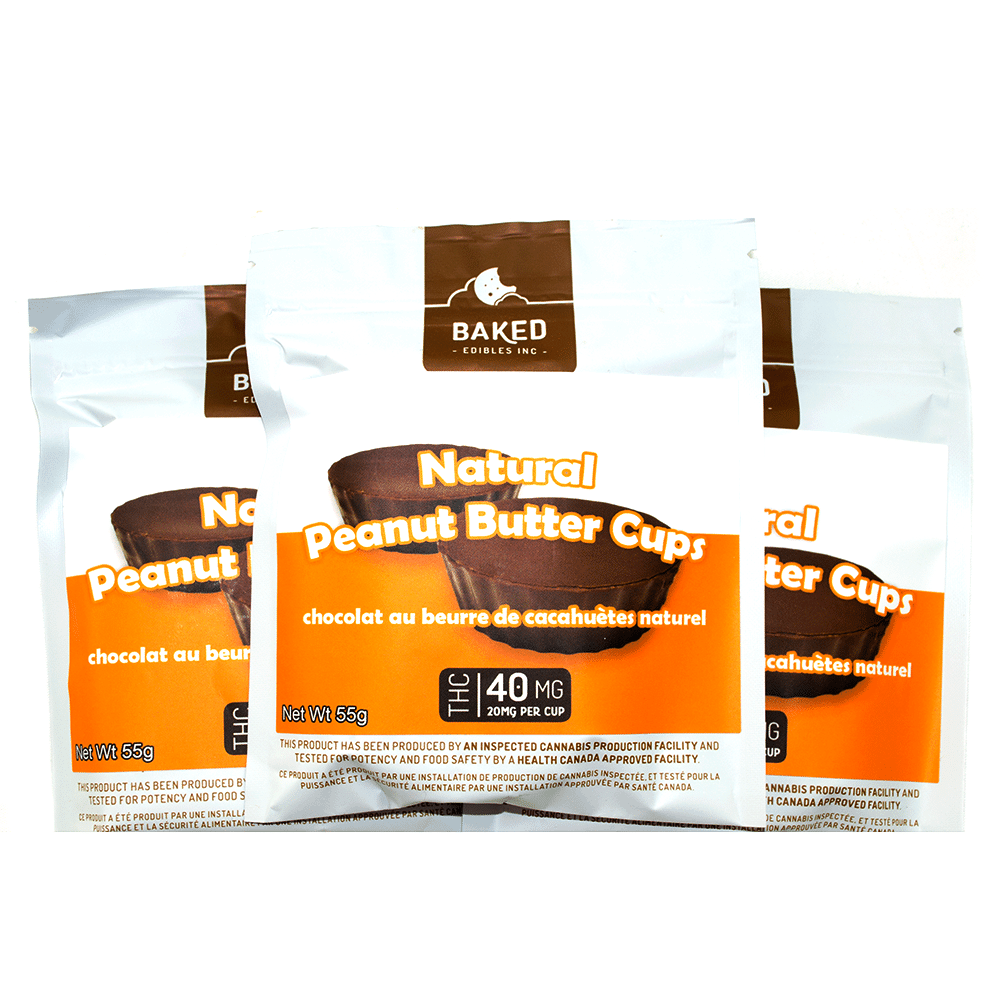 Baked Edibles Peanut Butter Cups (40mg THC) by Birch + Fog - Image © 2018 Birch + Fog. All Rights Reserved.
