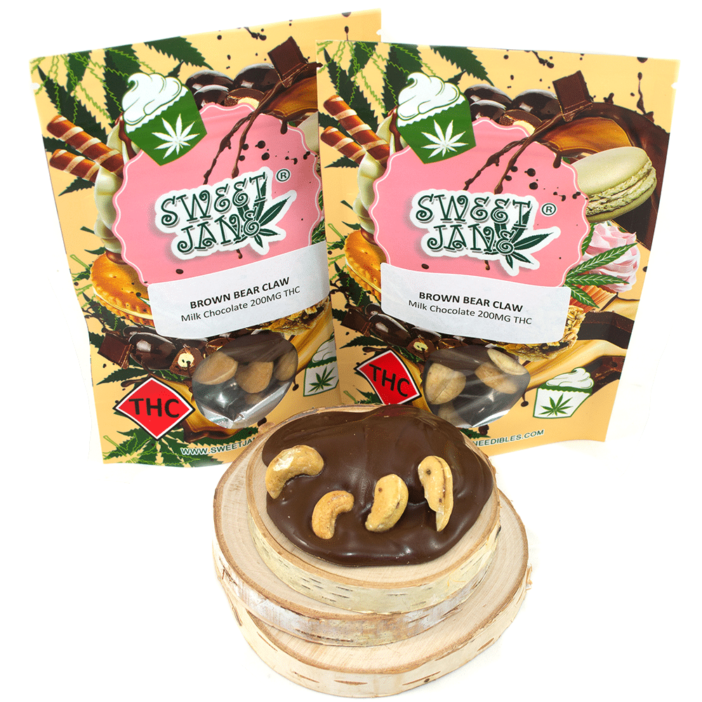 Sweet Jane Brown Bear Claw (200mg THC) by Birch + Fog - Image © 2018 Birch + Fog. All Rights Reserved.