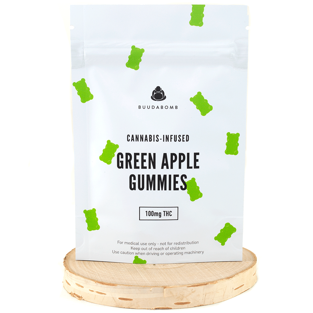 Buudabomb Gummies – Mango (Vegan/100mg THC) by Birch + Fog - Image © 2018 Birch + Fog. All Rights Reserved.