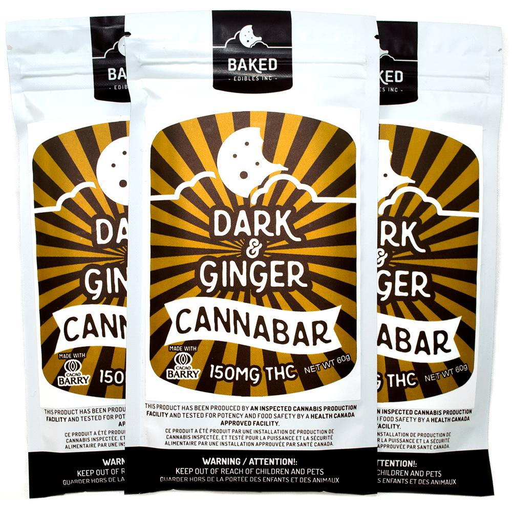Baked Edibles Dark Chocolate and Ginger Cannabar (150mg THC) by Birch + Fog - Image © 2018 Birch + Fog. All Rights Reserved.