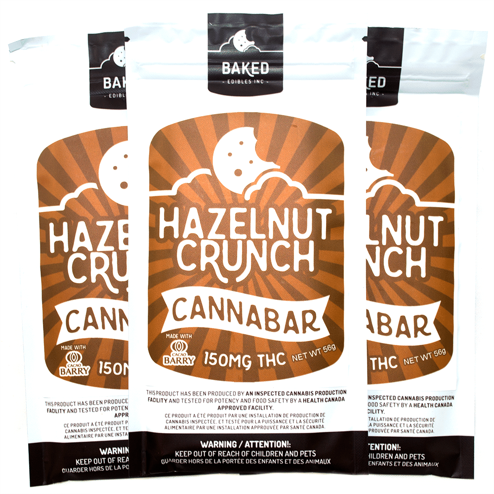 Baked Edibles Hazelnut Crunch Cannabar (150mg THC) by Birch + Fog - Image © 2018 Birch + Fog. All Rights Reserved.