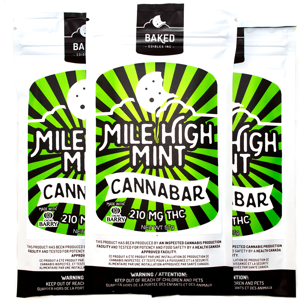 Baked Edibles Mile High Mint Cannabar (210mg THC) by Birch + Fog - Image © 2018 Birch + Fog. All Rights Reserved.