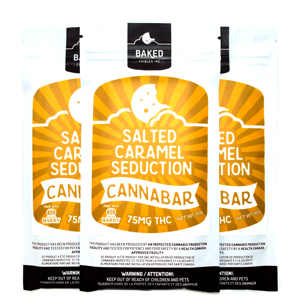 Baked Edibles Salted Caramel Seduction Cannabar (75mg THC) by Birch + Fog - Image © 2018 Birch + Fog. All Rights Reserved.