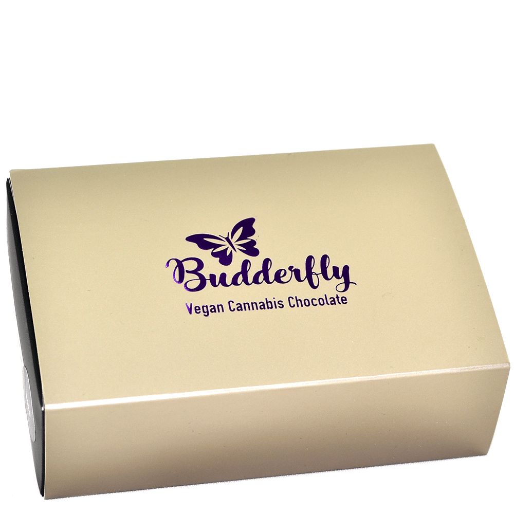 Budderfly Infusions Vegan Cannabis Chocolate Truffle Box – Peanut Butter (60mg THC) by Birch + Fog - Image © 2018 Birch + Fog. All Rights Reserved.