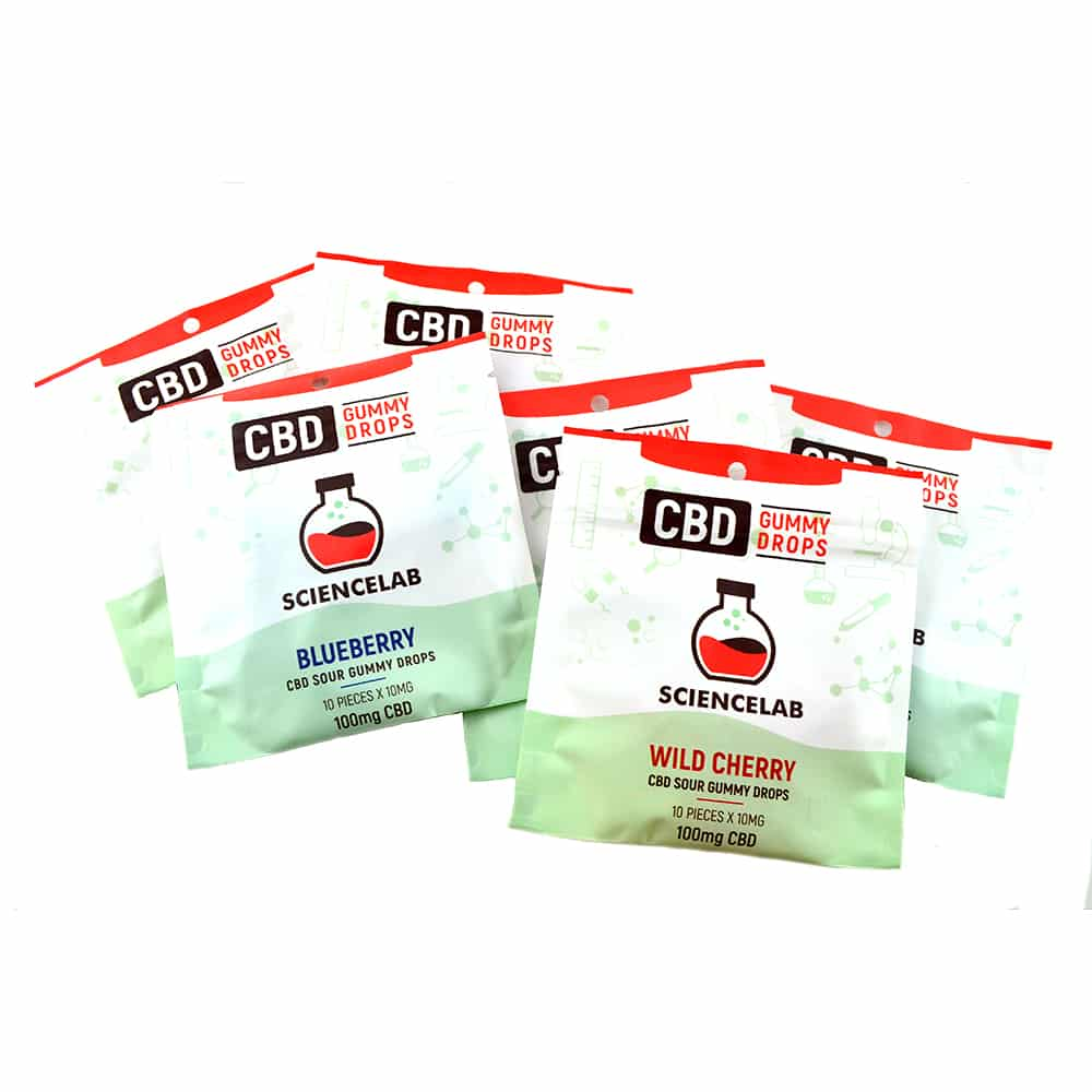 ScienceLab Sour CBD Gummy Drops (2 Unique Flavours) (100mg CBD) by Birch + Fog - Image © 2018 Birch + Fog. All Rights Reserved.