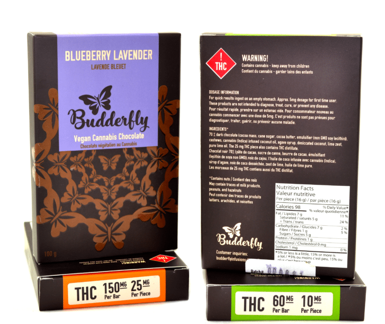 Budderfly Infusions Vegan Chocolate Bars – Coconut Lime (150mg THC) by Birch + Fog - Image © 2018 Birch + Fog. All Rights Reserved.