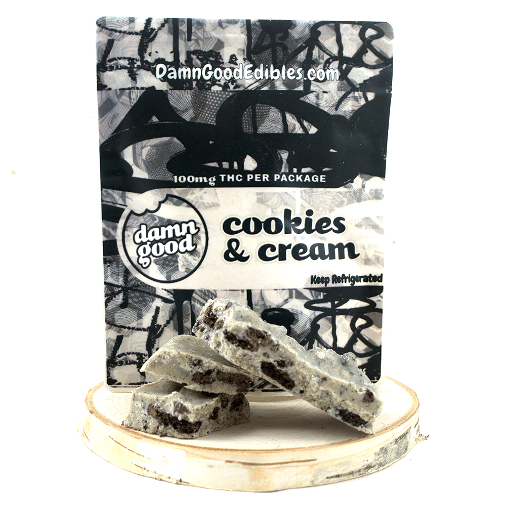 Damn Good Edibles Cookies & Cream (100mg THC) by Birch + Fog - Image © 2018 Birch + Fog. All Rights Reserved.