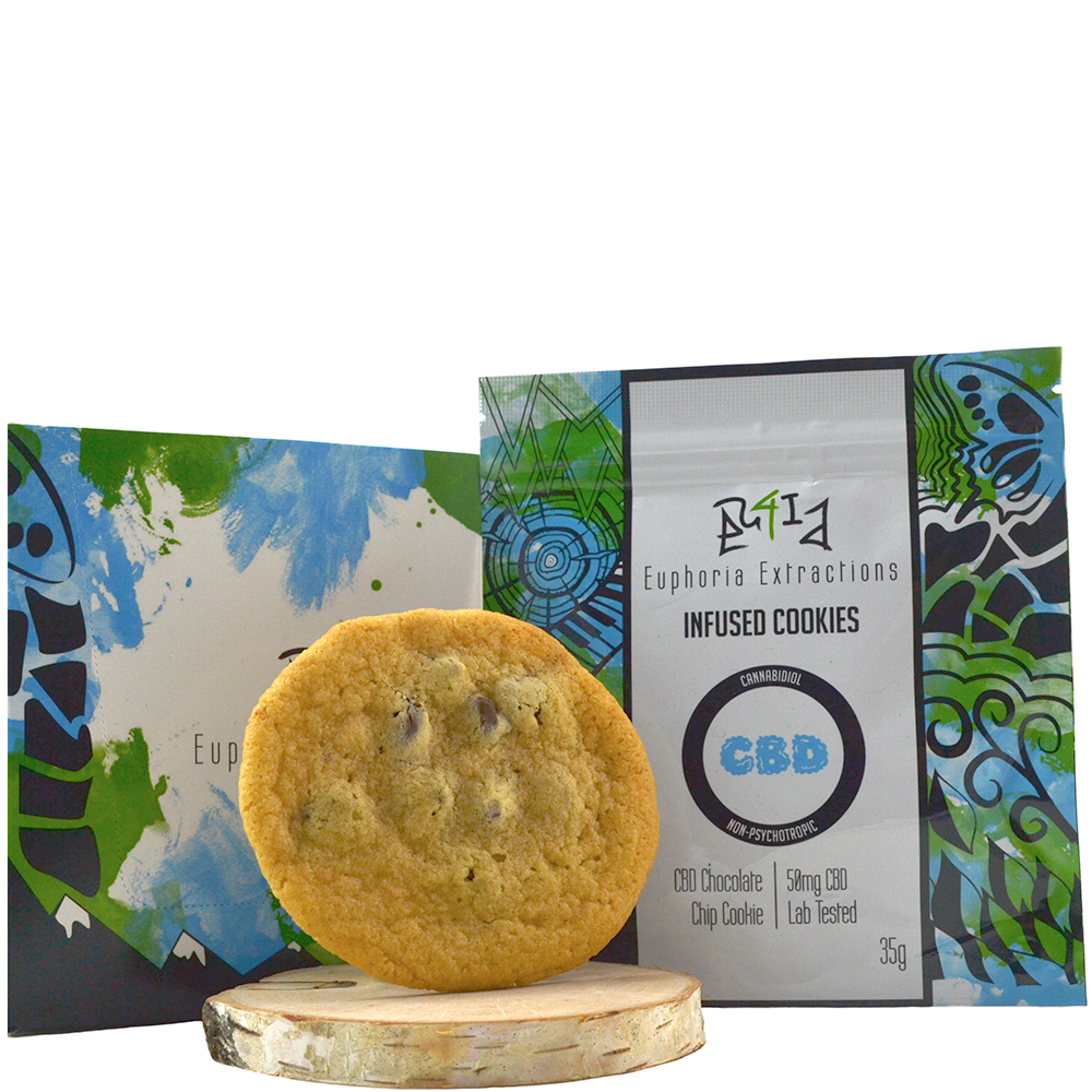 Euphoria Extractions CBD Infused Cookies (50mg CBD) by Birch + Fog - Image © 2018 Birch + Fog. All Rights Reserved.