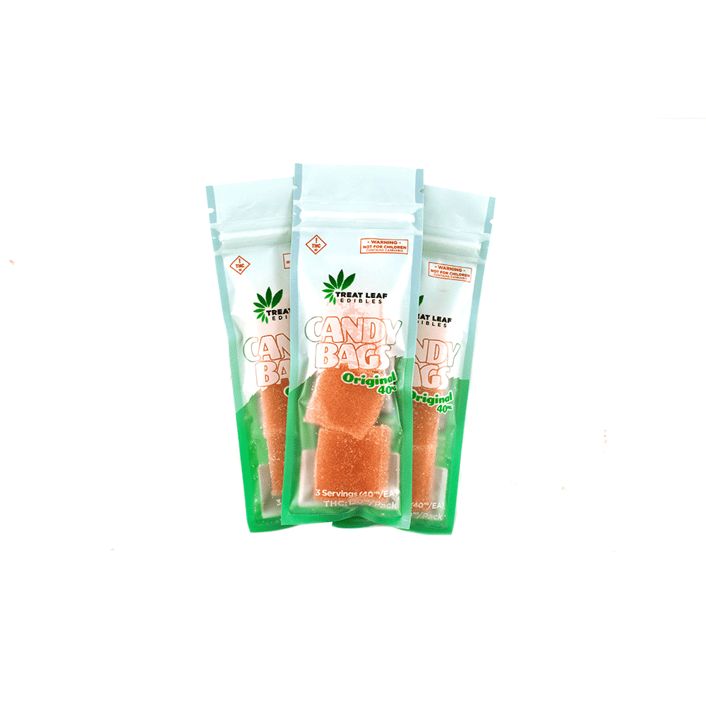 Treat Leaf Edibles 3-Piece Candy Bags – Kiwi (120mg THC) by Birch + Fog - Image © 2018 Birch + Fog. All Rights Reserved.