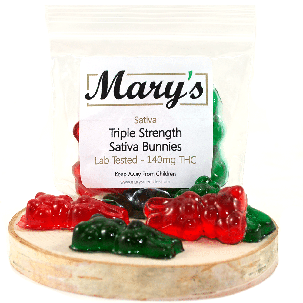 Marys Medibles Triple Strength Sativa Bunnies (140mg THC) by Birch + Fog - Image © 2018 Birch + Fog. All Rights Reserved.