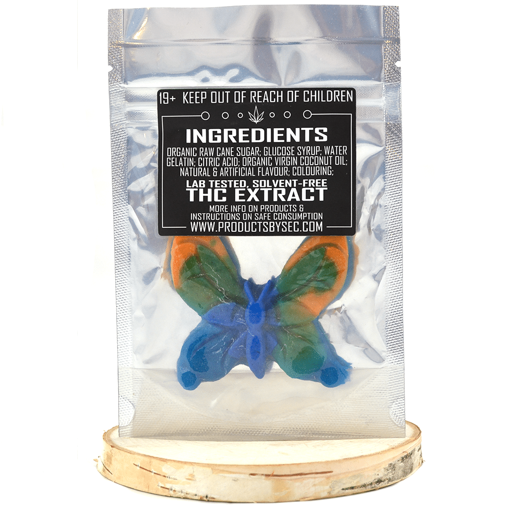 SEC Butterfly High (400mg THC) by Birch + Fog - Image © 2018 Birch + Fog. All Rights Reserved.