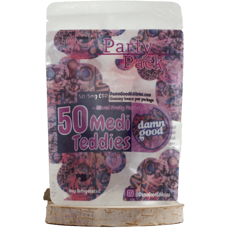 Damn Good Edibles 50 CBD Medi Teddi Party Pack by Birch + Fog - Image © 2018 Birch + Fog. All Rights Reserved.