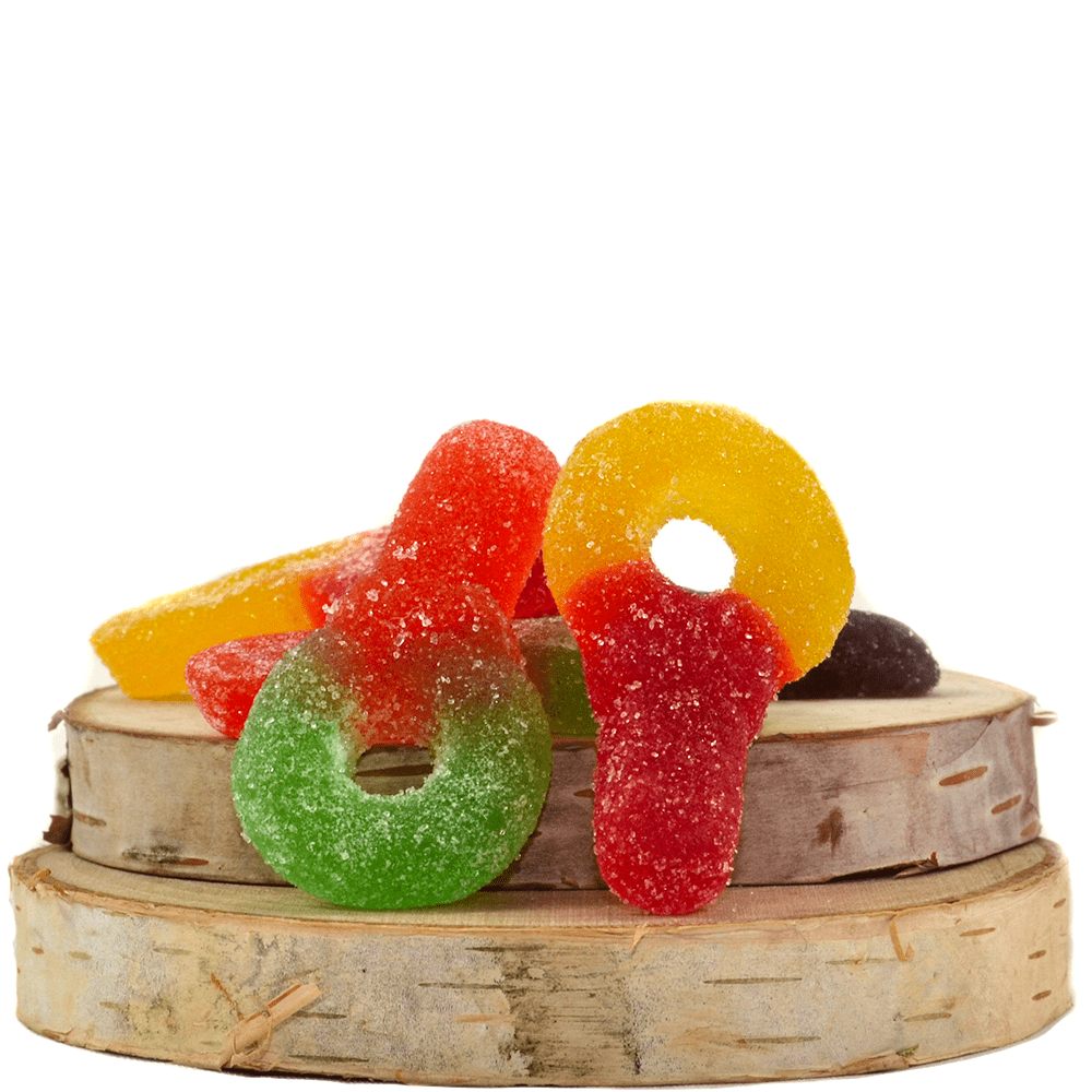 Faded Edibles Sour Suckers (150mg THC) by Birch + Fog - Image © 2018 Birch + Fog. All Rights Reserved.