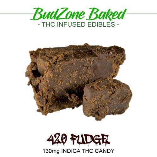 420 Fudge 130mg Indica THC Candy by Bud Zone - Image © 2020 Bud Zone. All Rights Reserved.