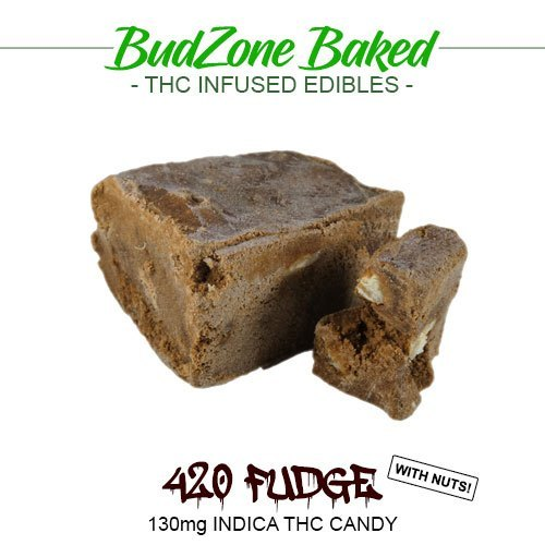 420 Fudge And Nuts 130mg Indica THC Candy by Bud Zone - Image © 2020 Bud Zone. All Rights Reserved.
