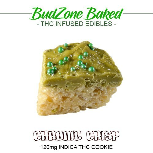 Chronic Crisp 120mg Indica THC Cookie by Bud Zone - Image © 2020 Bud Zone. All Rights Reserved.