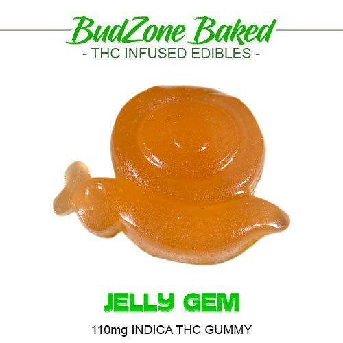 Jelly Gem 110mg Indica THC Gummy by Bud Zone - Image © 2020 Bud Zone. All Rights Reserved.