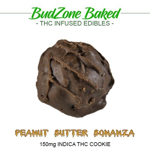 Peanut Butter Bonanza 150mg Indica THC Cookie by Bud Zone - Image © 2018 Bud Zone. All Rights Reserved.