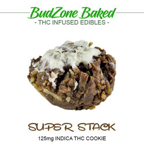 Super Stack 125mg Indica THC Cookie by Bud Zone - Image © 2020 Bud Zone. All Rights Reserved.