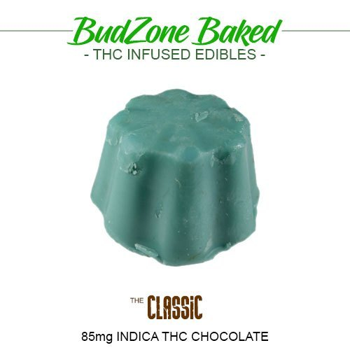 The Classic 85mg Indica THC Chocolate by Bud Zone - Image © 2018 Bud Zone. All Rights Reserved.