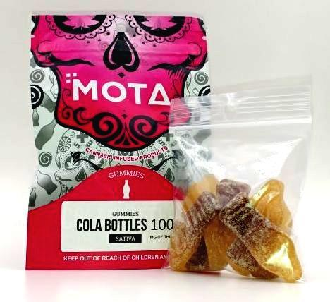 MOTA Cola Bottles 100mg THC Sativa by Bud Zone - Image © 2020 Bud Zone. All Rights Reserved.