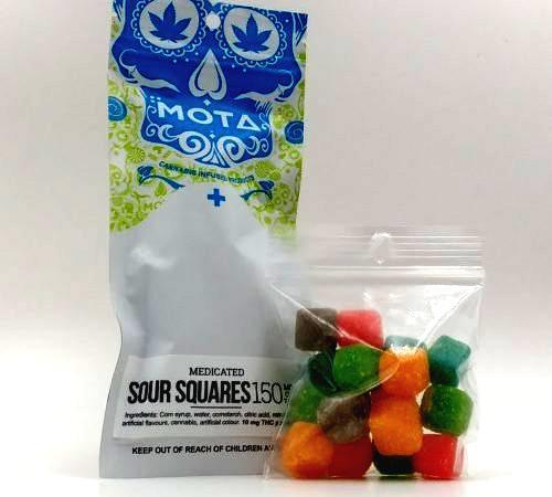 MOTA Sour Squares 150mg THC by Bud Zone - Image © 2020 Bud Zone. All Rights Reserved.