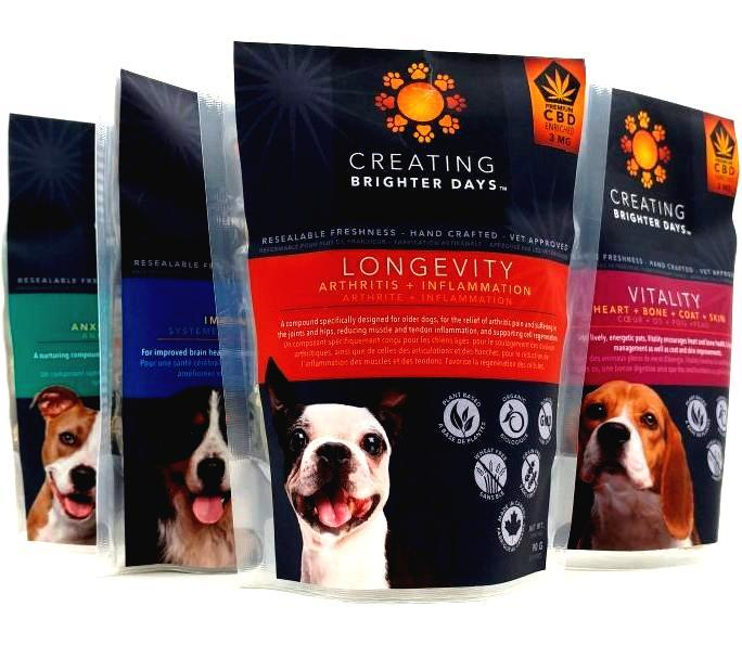 Creating Brighter Days CBD Pet Treats by Bud Zone - Image © 2020 Bud Zone. All Rights Reserved.