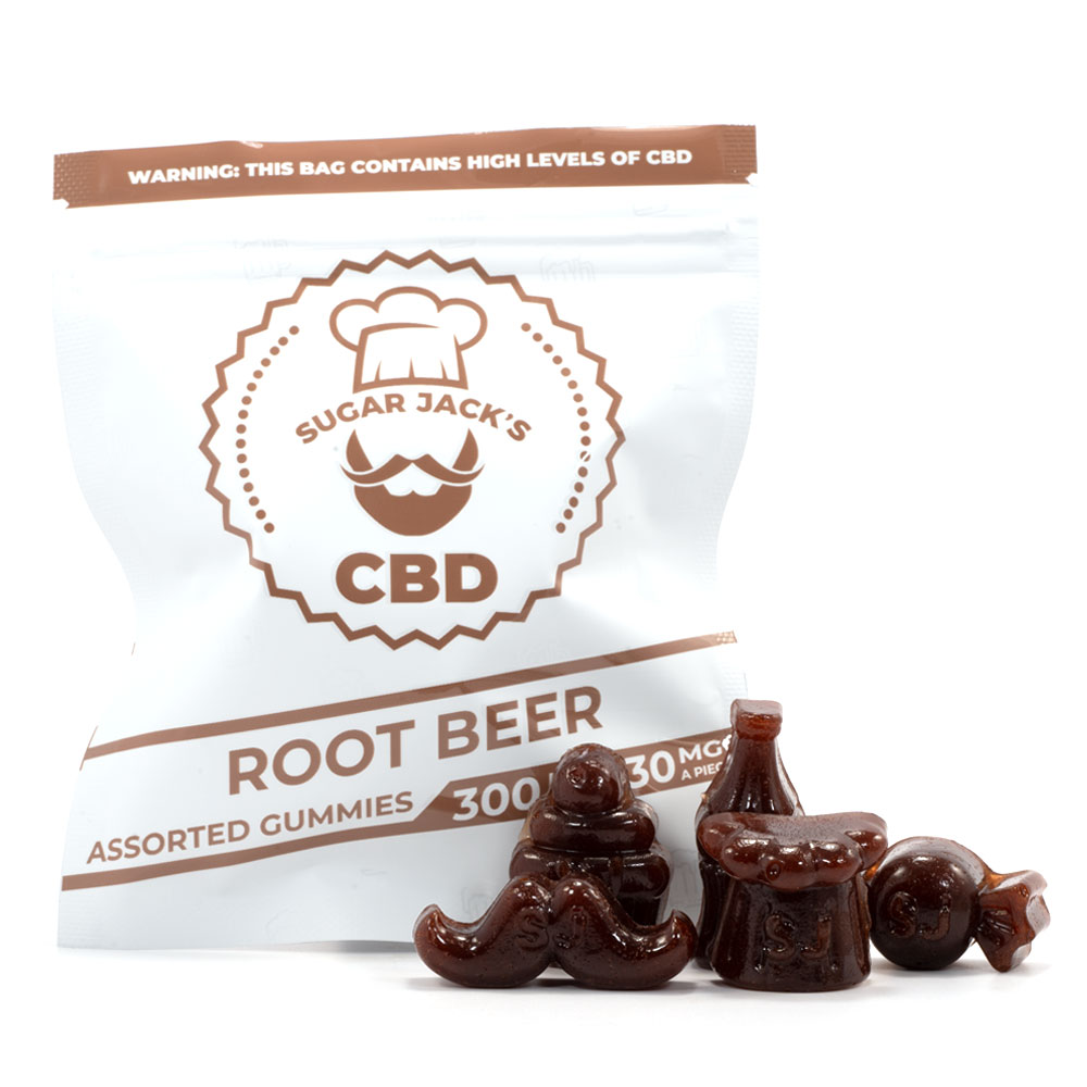 Sugar Jacks CBD Root Beer Assorted Gummies by Cannabismo - Image © 2021 Cannabismo. All Rights Reserved.