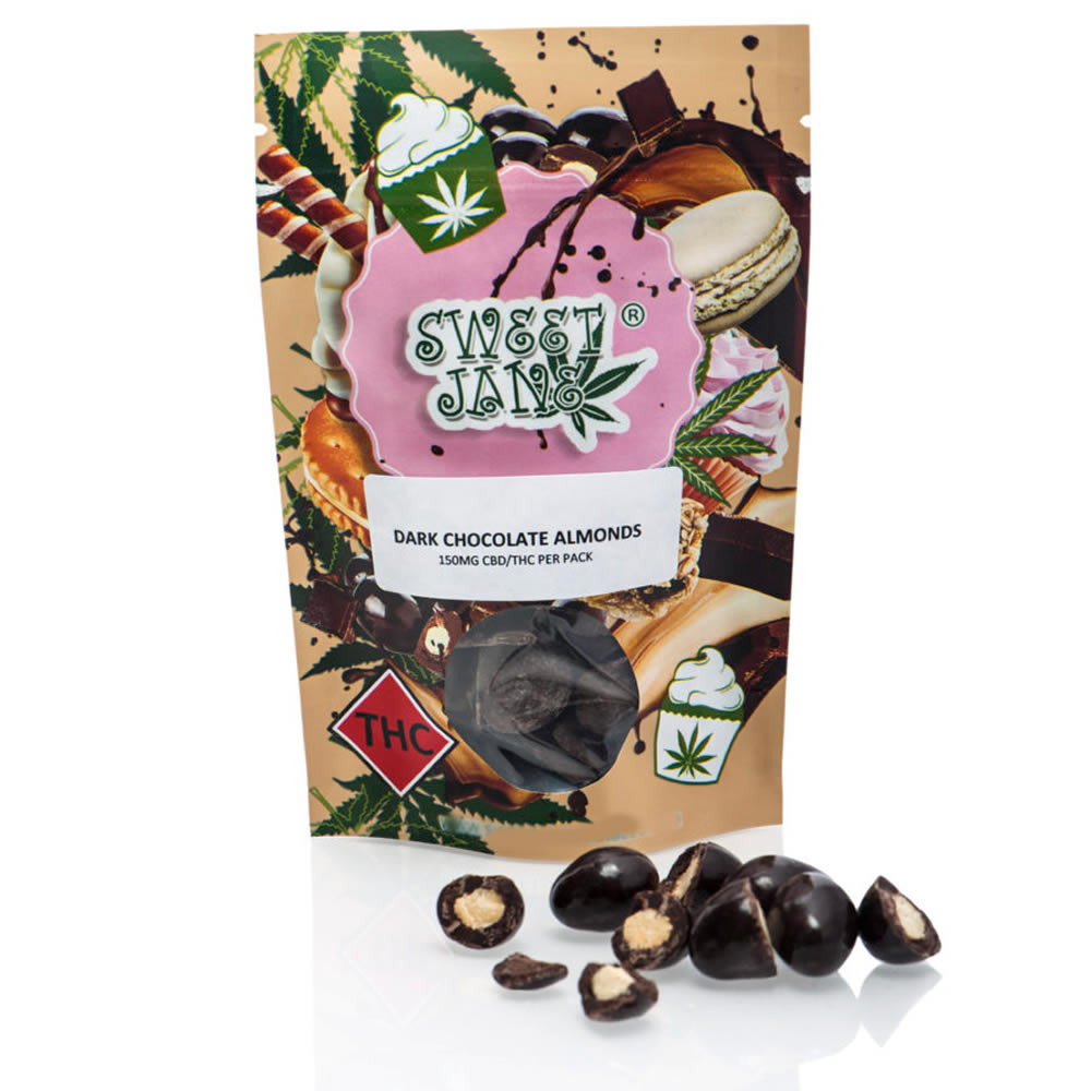 Dark Chocolate Covered Almonds – 150mg THC/CBD by Coast to Coast Medicinals - Image © 2018 Coast to Coast Medicinals. All Rights Reserved.