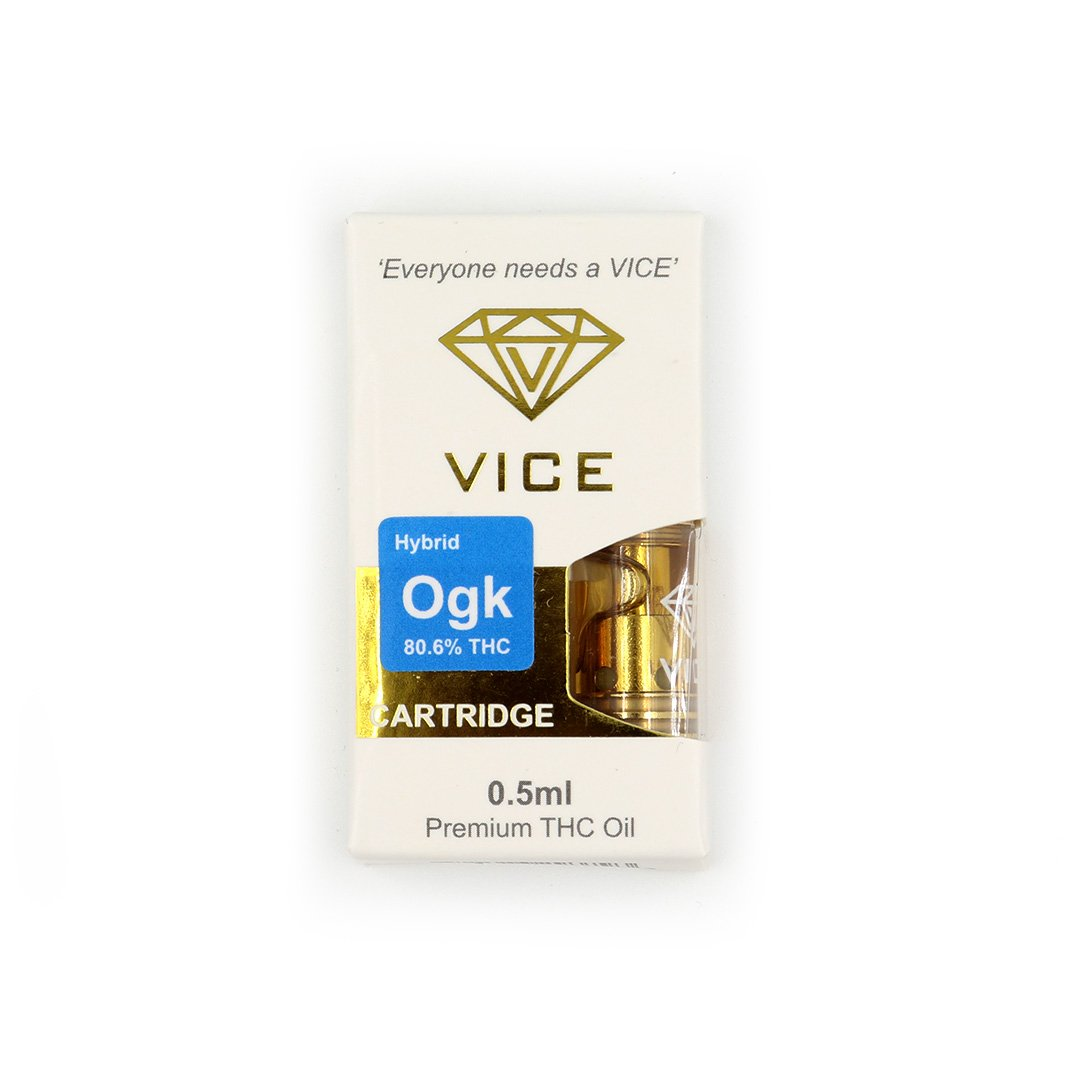 Gold VICE THC Refillable Vape Cartridge by Crystal Cloud 9 - Image © 2021 Crystal Cloud 9. All Rights Reserved.