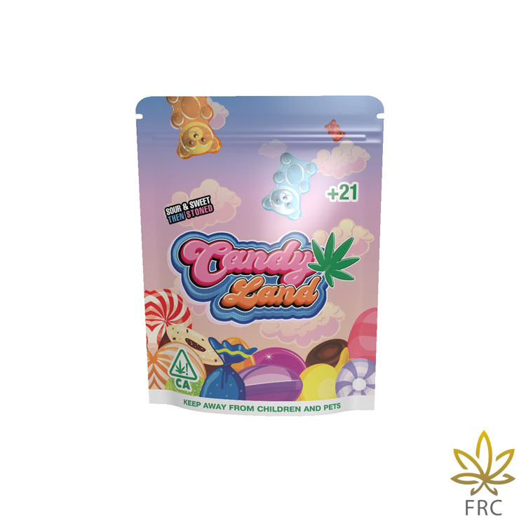 Candy Land Gummy Worms (6 pcs, 50 mg/ea) by Freshly Rated Cannabis - Image © 2021 Freshly Rated Cannabis. All Rights Reserved.