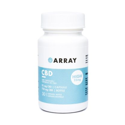 CBD Capsules High (25mg CBD) by ARRAY by Ganja Grams - Image © 2020 Ganja Grams. All Rights Reserved.
