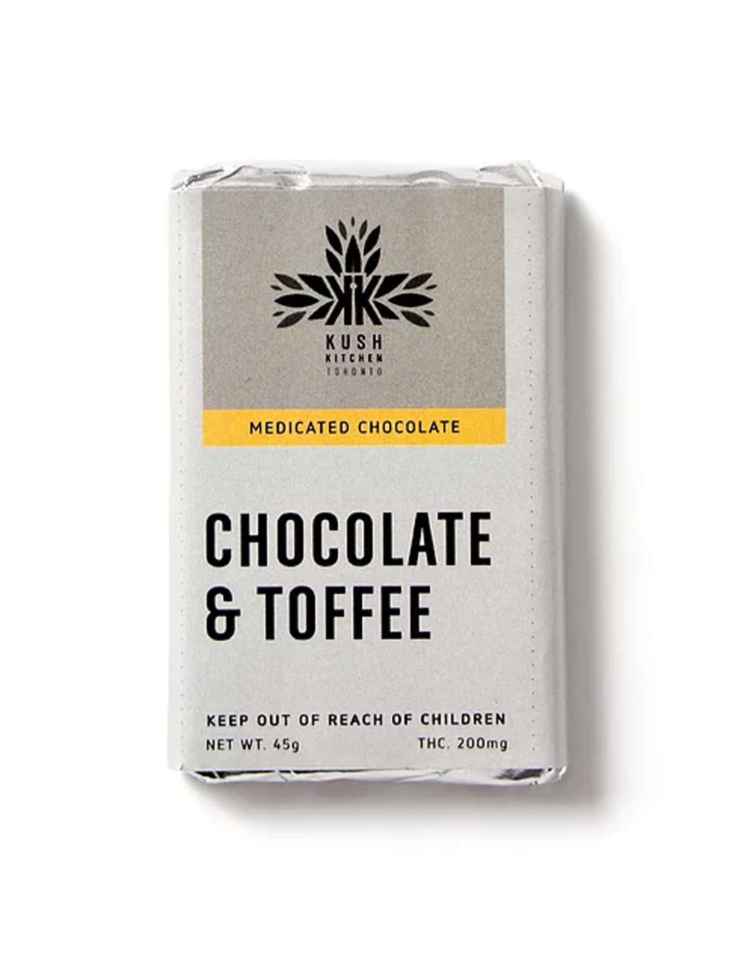 Milk Chocolate & Toffee Bar (200mg THC) by Kush Kitchen by Ganja Grams - Image © 2020 Ganja Grams. All Rights Reserved.