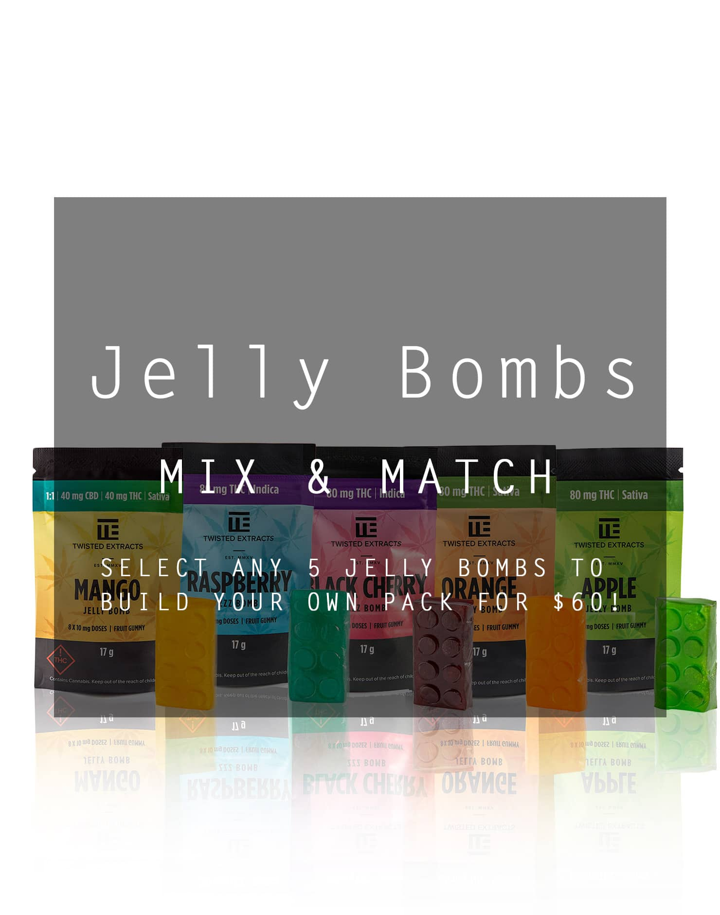 Jelly Bombs Mix & Match by Ganja Grams - Image © 2020 Ganja Grams. All Rights Reserved.
