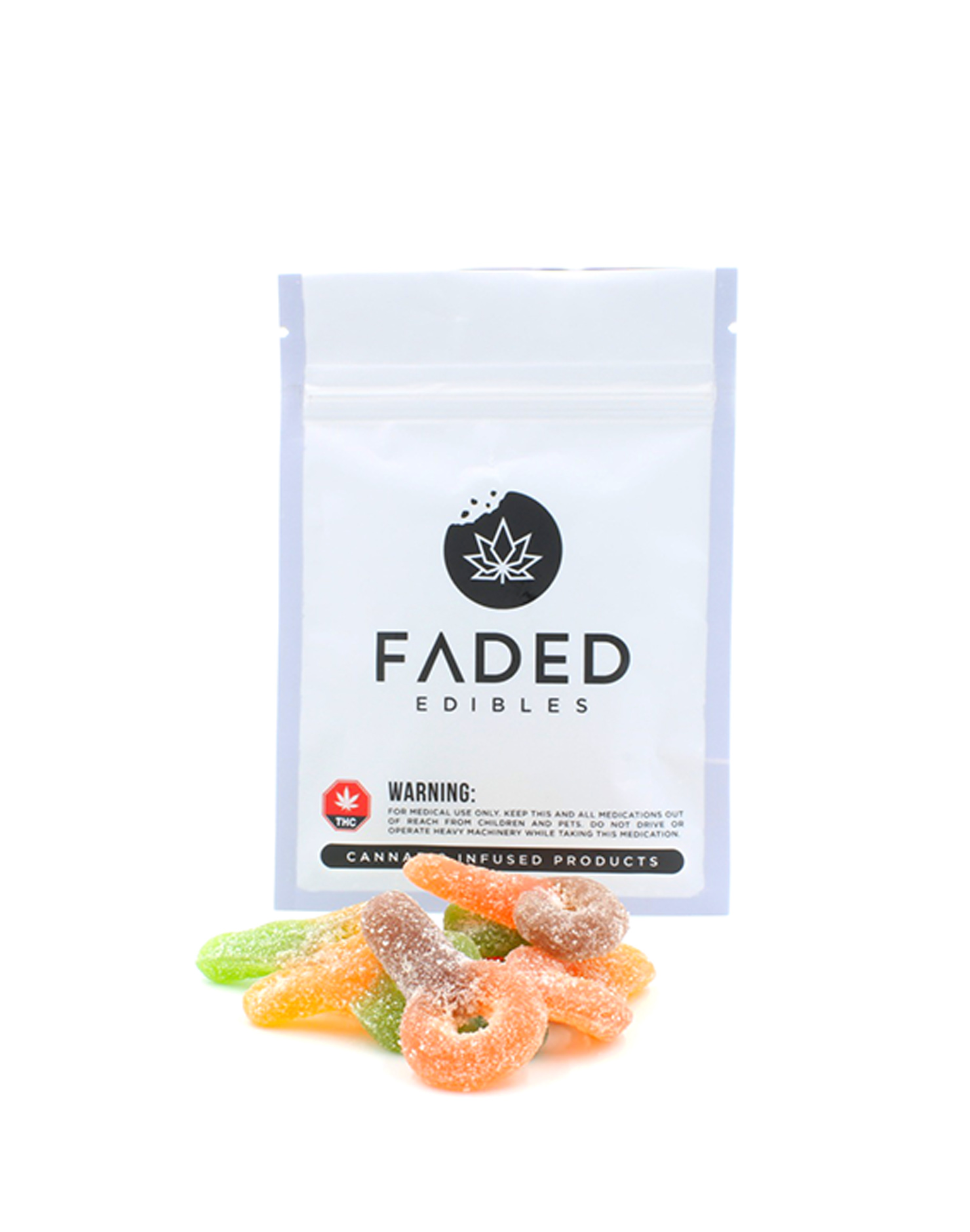 Sour Suckers by Faded Edibles (150mg THC) by Ganja Grams - Image © 2018 Ganja Grams. All Rights Reserved.