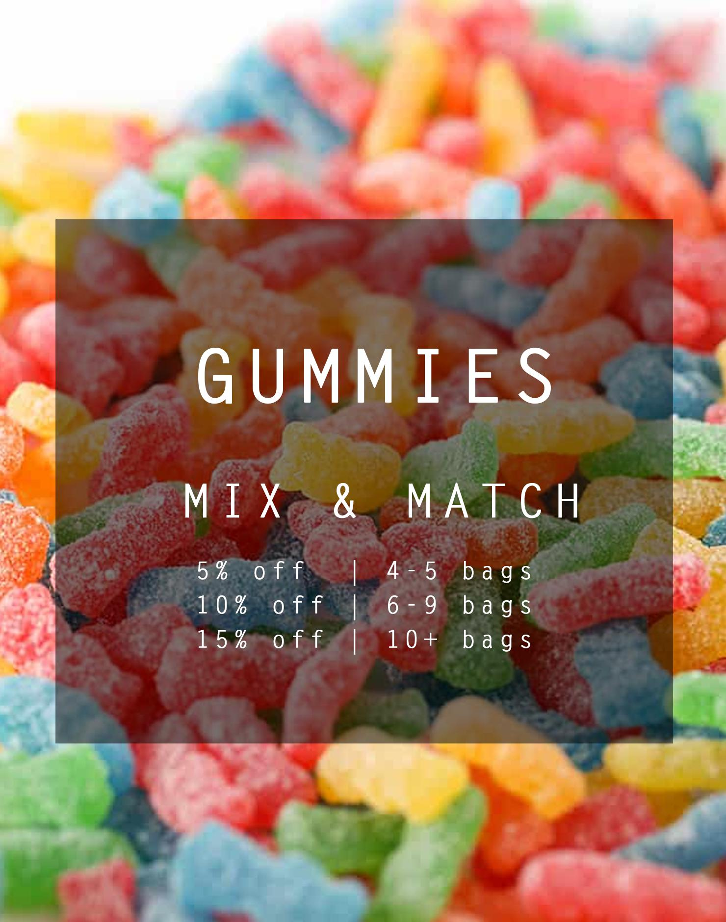 Gummies Bulk Mix & Match (6 Unique Flavours) by Ganja Grams - Image © 2018 Ganja Grams. All Rights Reserved.