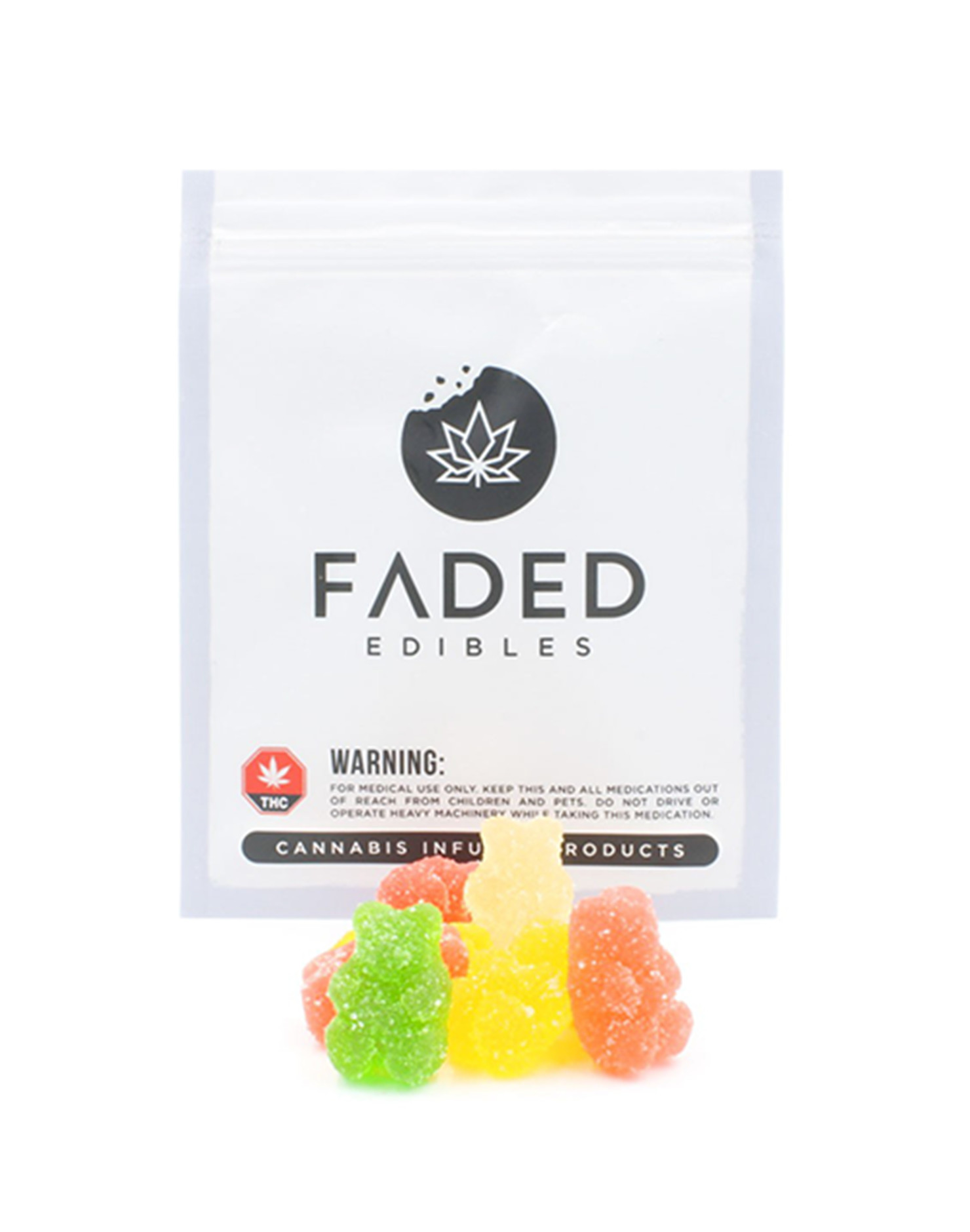 Sour Gummy Bears by Faded Edibles (150mg THC) by Ganja Grams - Image © 2018 Ganja Grams. All Rights Reserved.