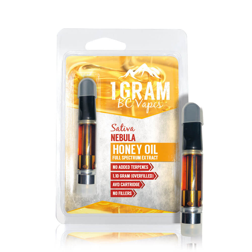 BC Vapes: Honey Oil Full Spectrum Cartridges by Get Cannabis Online - Image © 2020 Get Cannabis Online. All Rights Reserved.