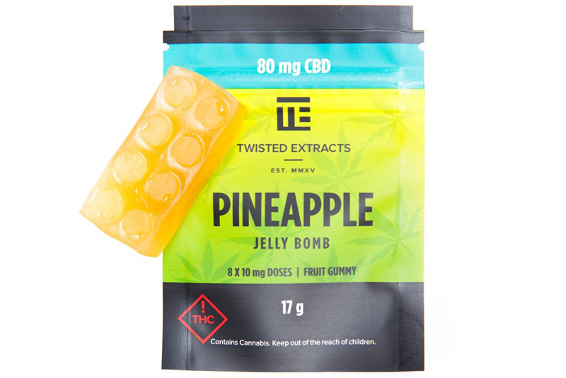 Twisted Extracts CBD Pineapple Jelly Bomb by Get Kush - Image © 2018 Get Kush. All Rights Reserved.