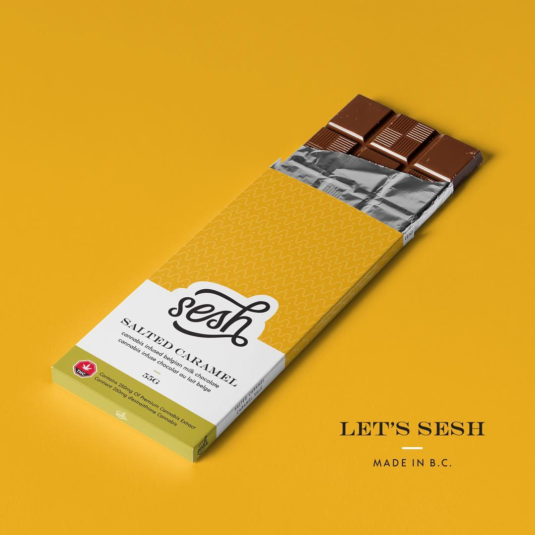 Sesh Edibles Chocolate Bars by Get Kush - Image © 2018 Get Kush. All Rights Reserved.