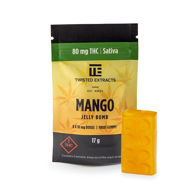 Twisted Extracts Mango Jelly Bomb (Sativa) by Get Kush - Image © 2018 Get Kush. All Rights Reserved.