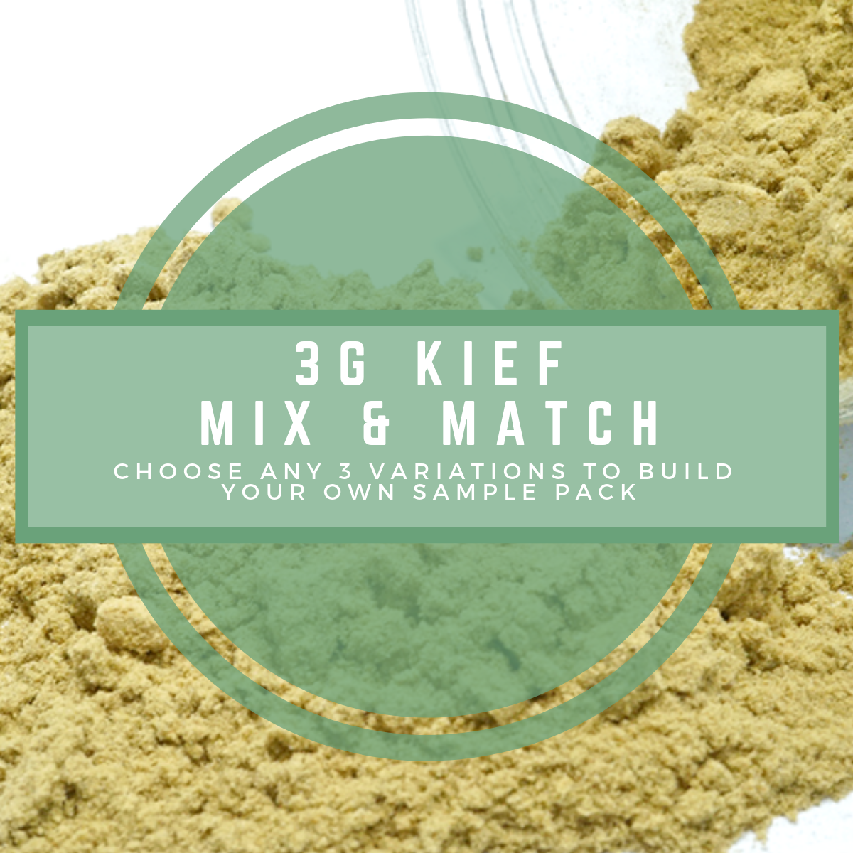 3G Mix & Match Kief by Green Society - Image © 2018 Green Society. All Rights Reserved.